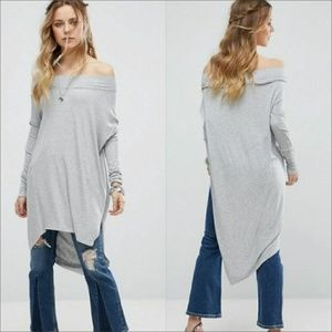 FREE PEOPLE GRAPEVINE TUNIC GRAY sz M